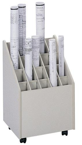 Safco Mobile Blueprint Roll File 20 Slot 3082