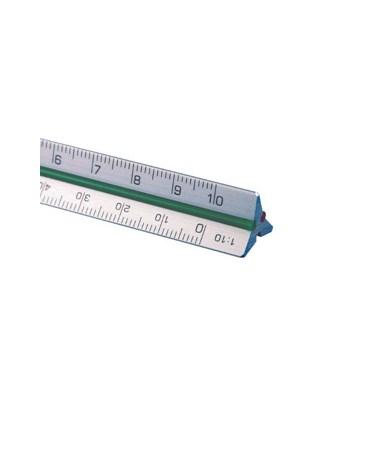 """Aluminum Triangular Scale 4"""" mini 300ATS"""