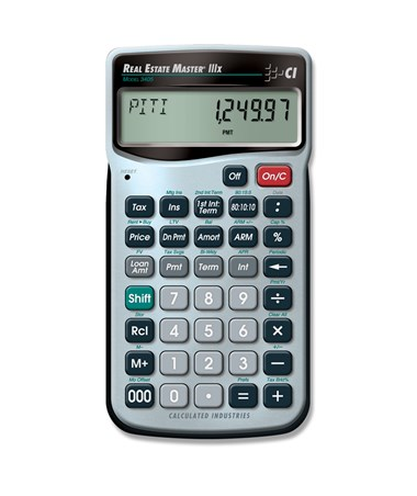 calculated industries real estate master iiix 3405 tiger supplies