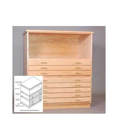 SMI Oak Bookshelf for 36 x 48 Plan File 3648-S