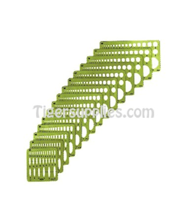 LARGE SERIES - ELLIPSE TEMPLATES - SET OF 15 3903-02