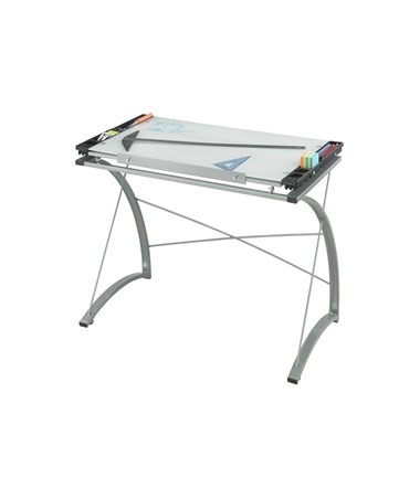 Safco Xpressions Glass Top Drawing Table 3966TG