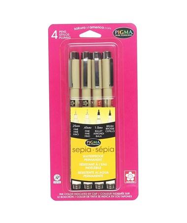 SAKURA® Pigma® Sepia Drawing Set 50040
