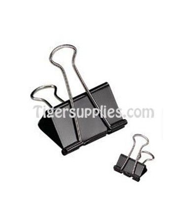 BINDER CLIPS, MEDIUM 1 1/4  DZ 50155
