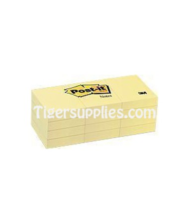 3M Post-it Notes 3x5 YELLOW 6550