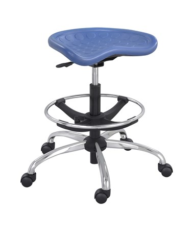 Safco SitStar Stool with Chrome Base, Blue SAF6660BU