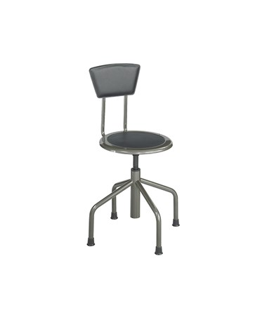"Safco Diesel Industrial Low base Stool With Back 15"" d x 29 1/2"" to 36""h 6668"