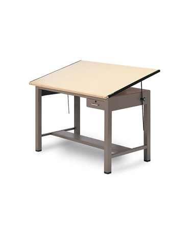Mayline Ranger Steel Drawing Table with Tool Drawer 7732A