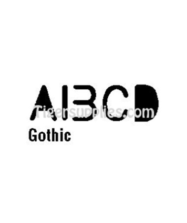 TEMP. GOTHIC LETTERS 963R