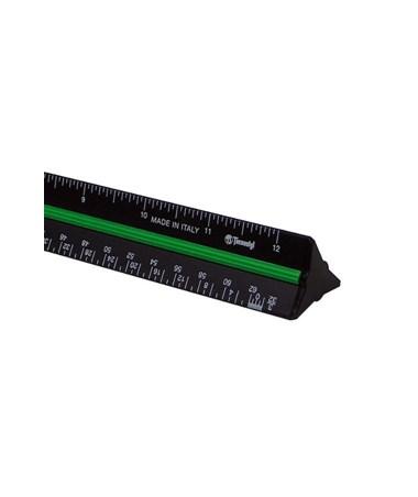 """Black Aluminum Trianguler Scale 12"""" 980ARC"""