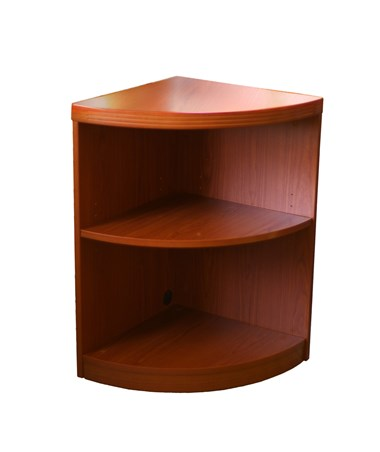 Aberdeen Series 2 Shelf Quarter Round (1 fixed Shelf) Cherry Tf Laminate MAYABQ2LCR
