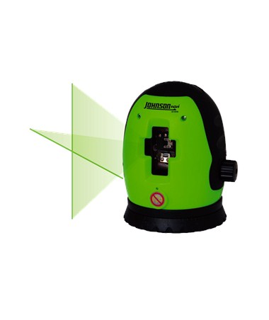 Johnson Acculine Cross-Line Laser Level with GreenBrite Technology 40-6640