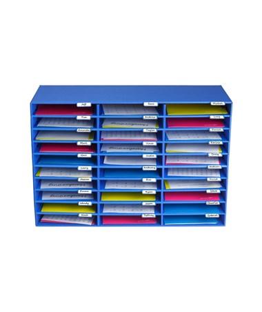 AdirOffice Classroom 30 Slots File Organizer ADI501-30-BLU
