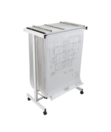 Adir Expandable Mobile Plan Center White 615-WHI