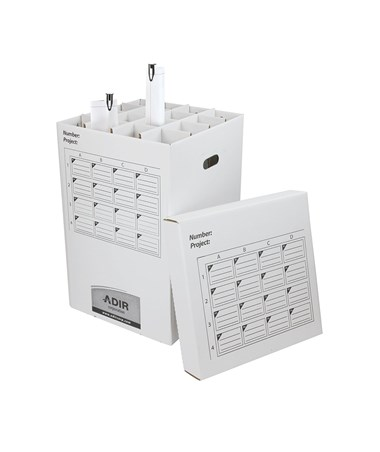 Adir Roll Storage File 25in 16 Compartment 622