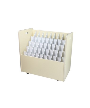 Adir Mobile Wood Roll File 50 Compartment 626
