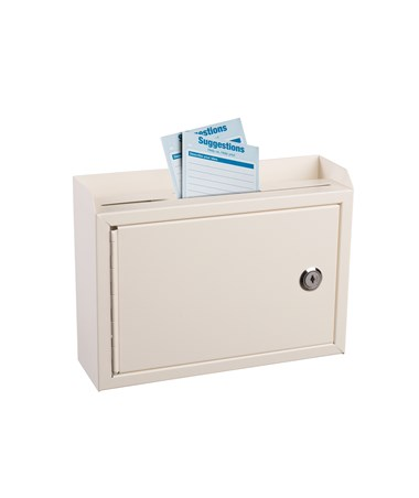 Adir Deluxe Steel Drop Box White