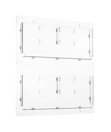 AdirOffice Hanging Magazine Rack with Adjustable Pockets 20 x 23 inches, Clear ADI640-2023-CLR