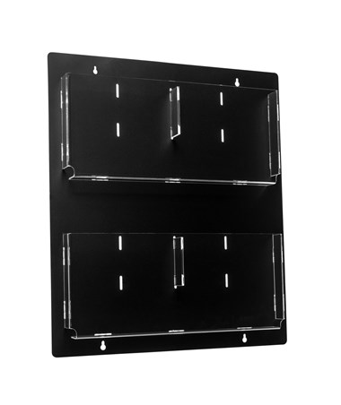 AdirOffice Hanging Magazine Rack with Adjustable Pockets 20 x 23 inches, Black ADI640-2023-BLK