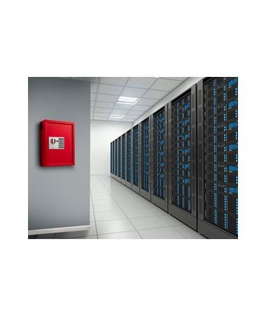AdirOffice 40 Key Steel Cabinet with Digital Lock ADI680-40-RED