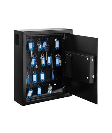 AdirOffice 40 Key Steel Cabinet with Digital Lock ADI680-40-BLK
