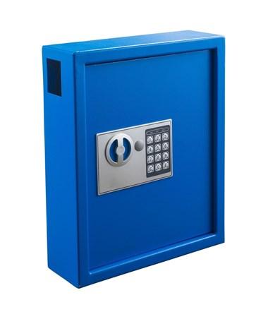 AdirOffice 40 Key Steel Cabinet with Digital Lock, Blue ADI680-40-BLU