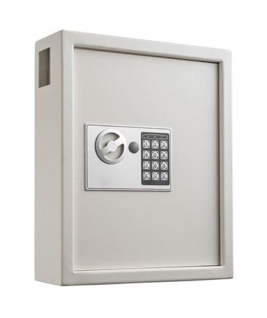 AdirOffice 40 Key Steel Cabinet with Digital Lock, White ADI680-40-WHI