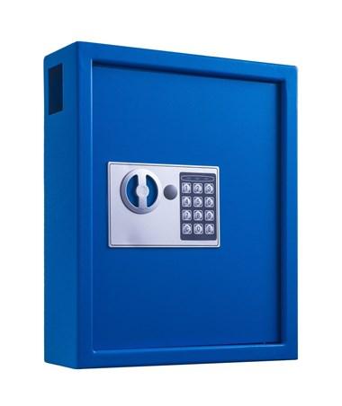 AdirOffice 40 Key Steel Cabinet with Digital Lock ADI680-40-BLU