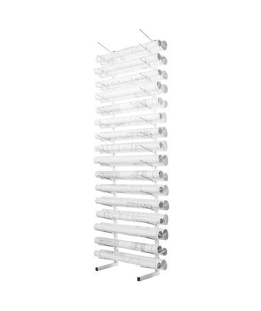 AdirOffice Standing Blueprint Storage Steel Rack ADI692-01-WHI White