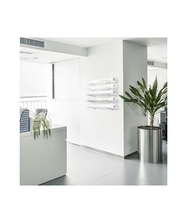 AdirOffice Wall Mount Blueprint 36-Inch White Steel Rack ADI692-36-WHI
