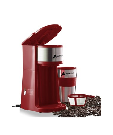 AdirChef Grab N' Go™ Personal Coffee Maker, Ruby Red 800-01-RR