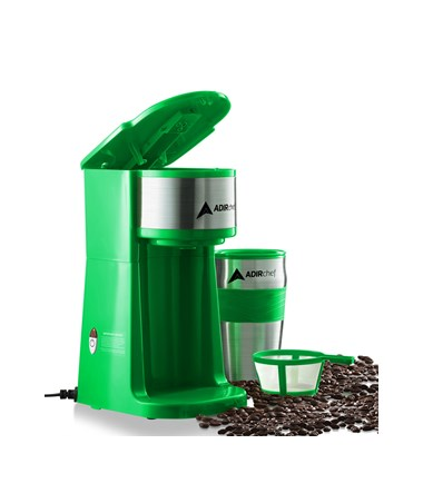AdirChef Grab N' Go™ Personal Coffee Maker, Green 800-01-GRN