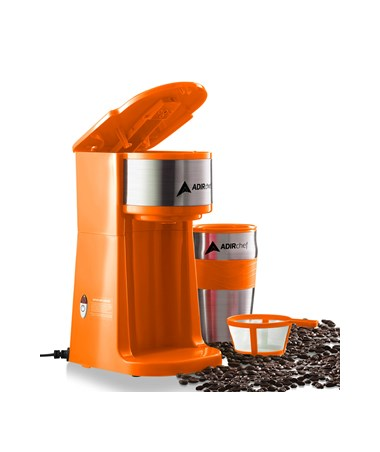 AdirChef Grab N' Go™ Personal Coffee Maker, Orange 800-01-ORG
