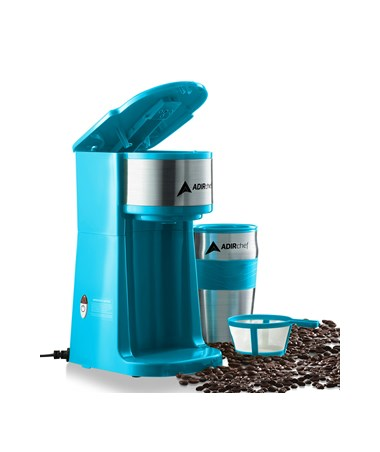 AdirChef Grab N' Go™ Personal Coffee Maker, Crystal Blue 800-01-CRB