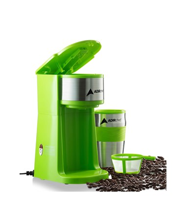 AdirChef Grab N' Go™ Personal Coffee Maker, Sour Green 800-01-SGR