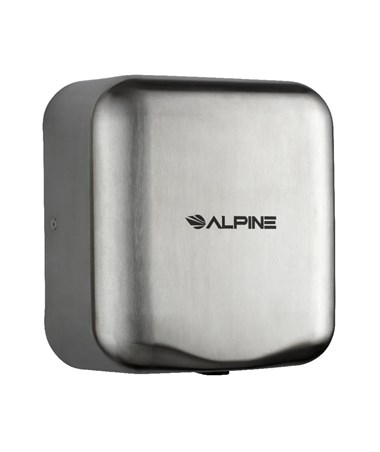 Alpine Hemlock High Speed Commercial Hand Dryer, Stainless Steel Brushed, 120 Volts 400-10-SSB
