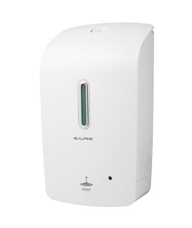Alpine Automatic Hands-Free Liquid Soap Dispenser ALP421-WHI-