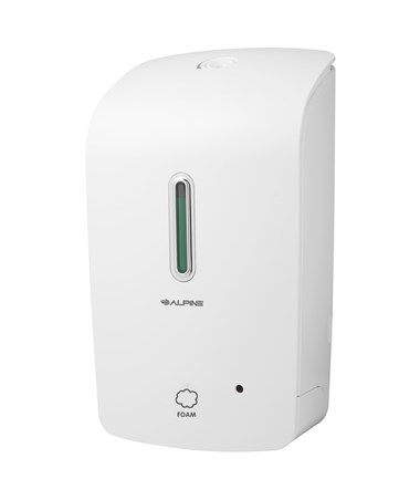 Alpine Automatic Hands-Free Foam Soap Dispenser ALP422-WHI-