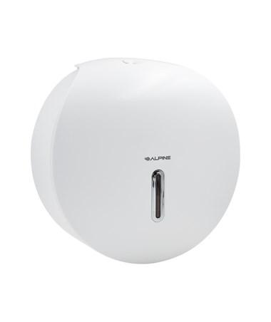 Alpine Single-Roll Jumbo Bath Tissue Dispenser, White ALP450-WHI