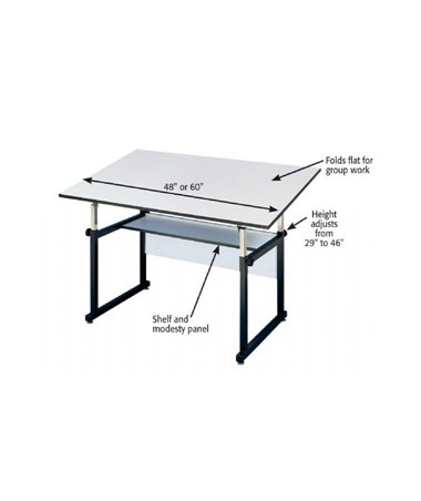 alvin workmaster white base drafting table tiger supplies