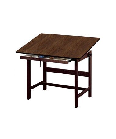 Alvin Titan Walnut Finish Drafting Table with Drawer WTB42-WA