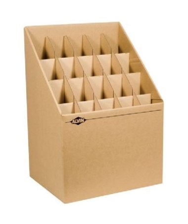 Alvin Upright Fiberboard Roll File, 20 Slots ALVARF20