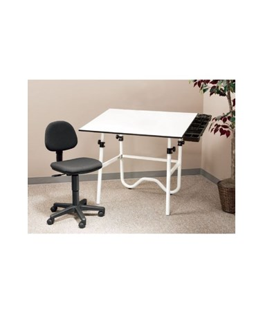 Alvin Creative Center White Drafting Table and Chair CC2001A