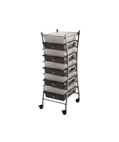 SC10CSM-X Blue Hills X Frame 10-Drawer Storage Cart