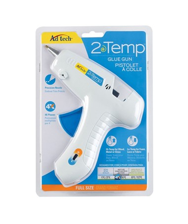 CORDLESS TWO TEMP GLUE GUN AT0401