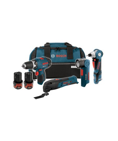 Bosch CLPK41-120 12V Max 4-tool Lithium-Ion Cordless Combo Kit BOSCLPK41-120