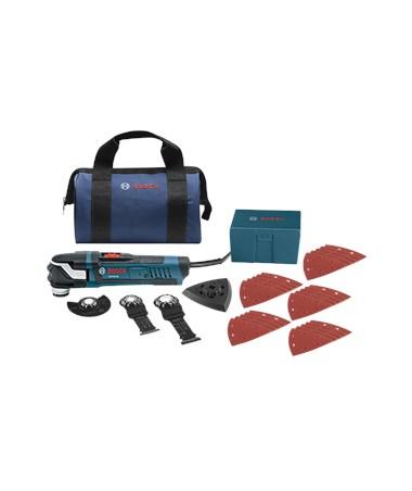 Bosch Starlock Oscillating Multi-Tool Kit - GOP40-30B: StarlockPlus Oscillating Tool (4 Amp) with Bag & 30 Accessories