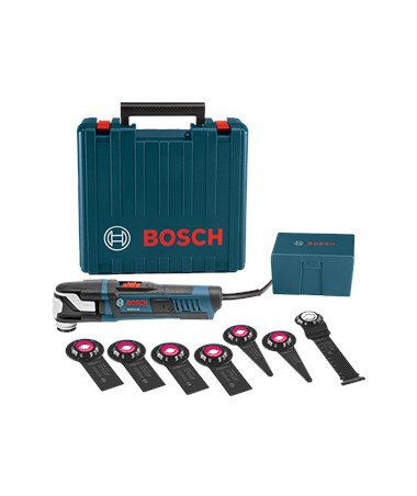 Bosch Starlock Oscillating Multi-Tool Kit - GOP55-36C1: StarlockMax Oscillating Tool (5.5 Amp) with Case & 8 Accessories