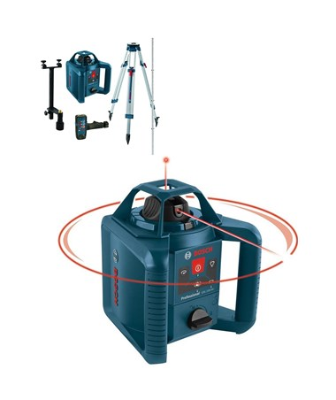 Bosch GRL 245 HVCK Self-Leveling Rotary Laser Kit with LR30 Receiver