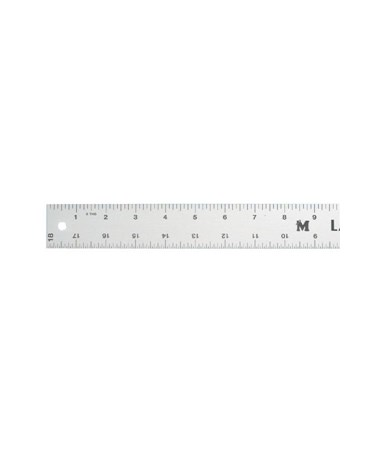 Cork-backed Aluminum Inking Ruler CB0180